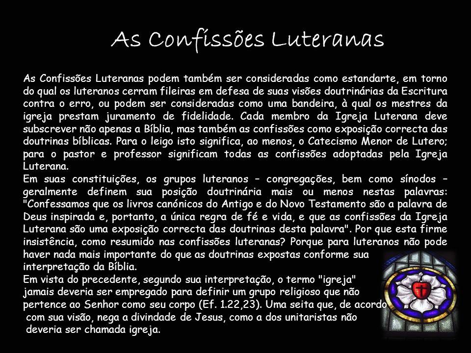As Confissões Luteranas
