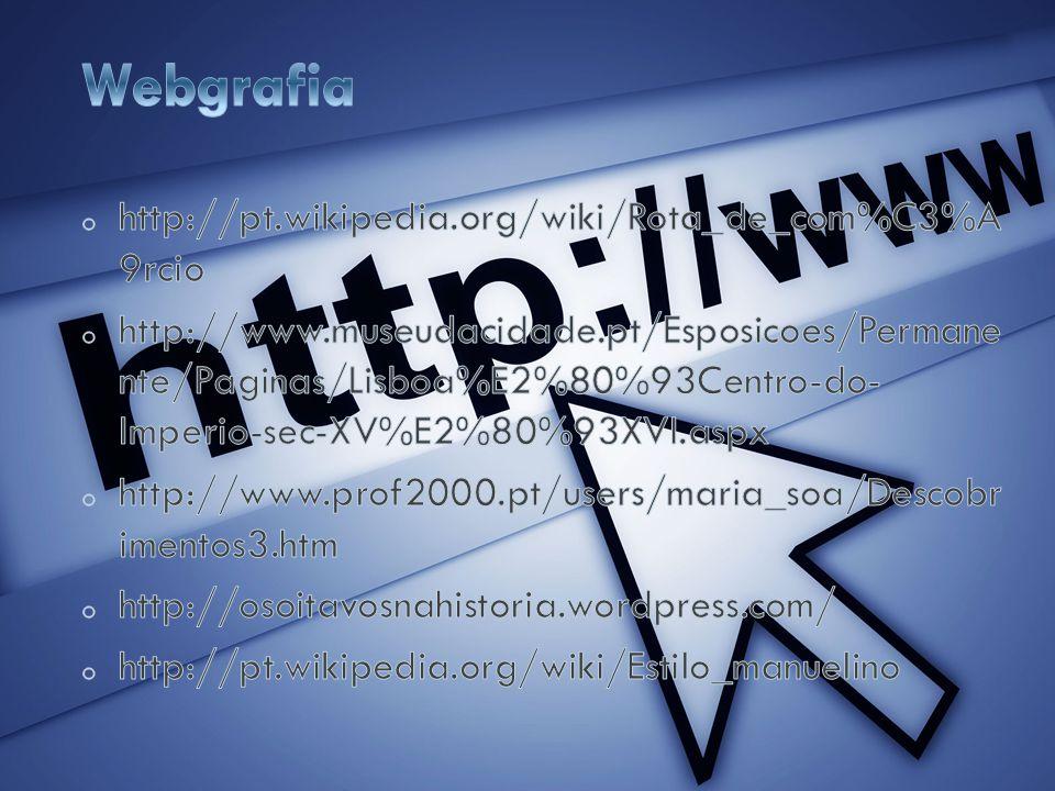 Webgrafia http://pt.wikipedia.org/wiki/Rota_de_com%C3%A 9rcio
