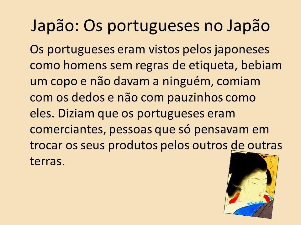 Japão: Os portugueses no Japão