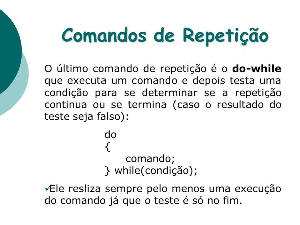 Comandos de Repetição