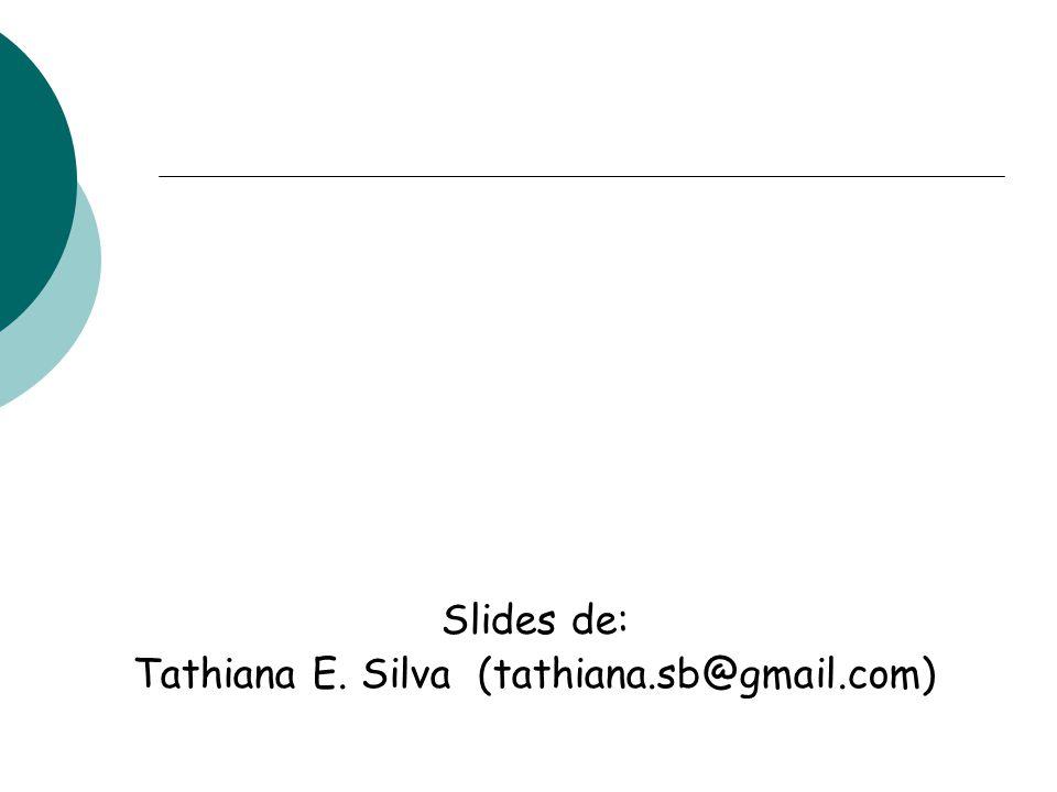 Tathiana E. Silva (tathiana.sb@gmail.com)