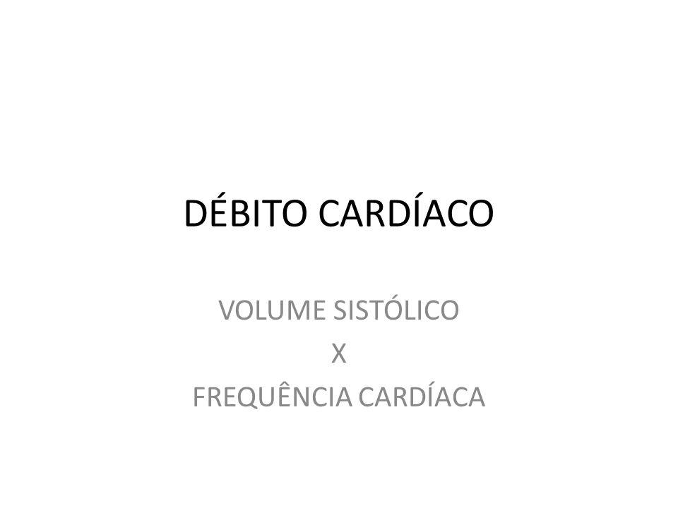 VOLUME SISTÓLICO X FREQUÊNCIA CARDÍACA