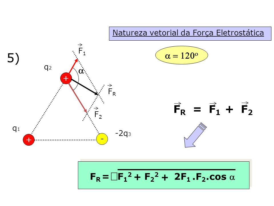 5) Ö FR = F1 F2 + a = 120o a + FR = F12 F22 2F1 .F2.cos a