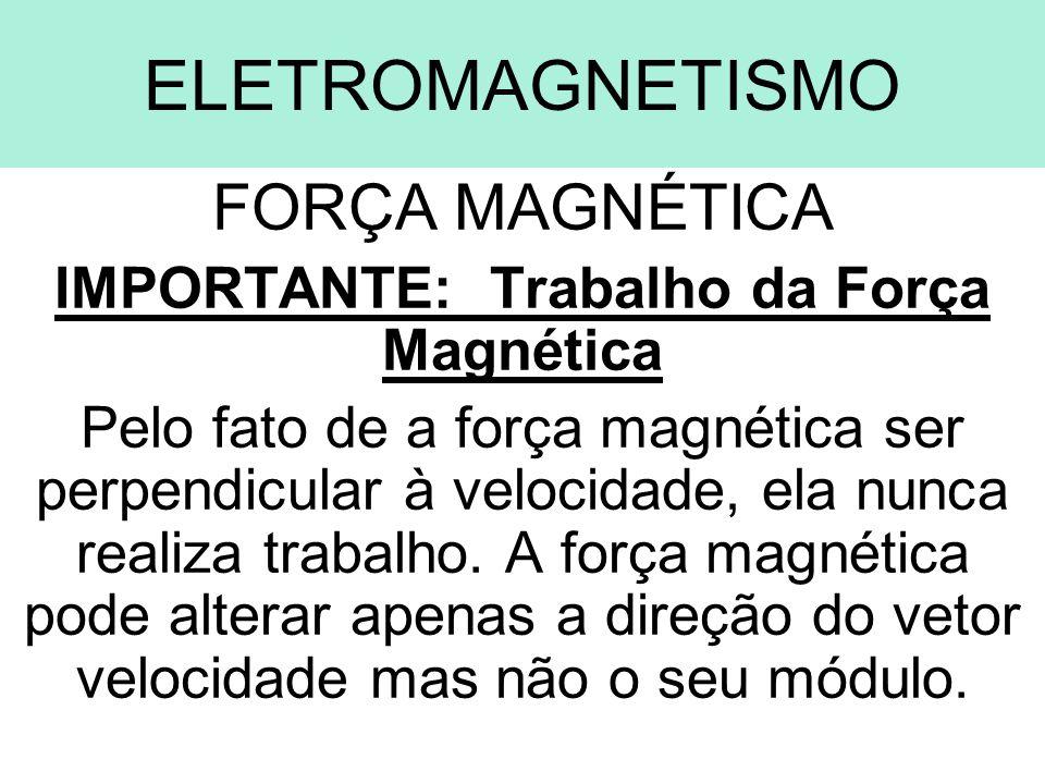 IMPORTANTE: Trabalho da Força Magnética