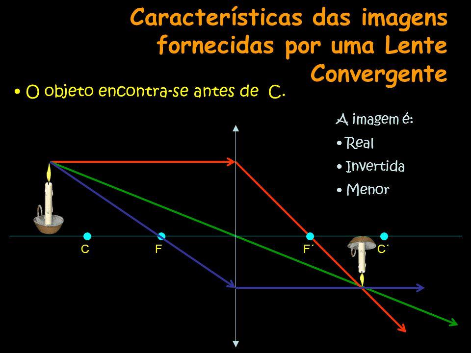 Características das imagens fornecidas por uma Lente Convergente