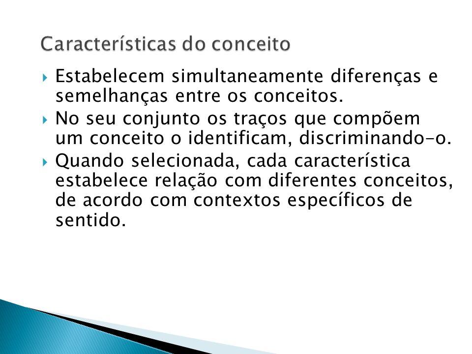 Características do conceito