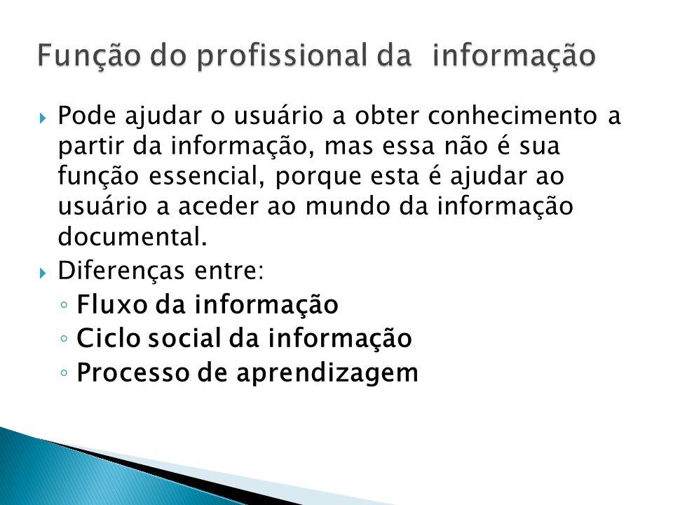 Função do profissional da informação