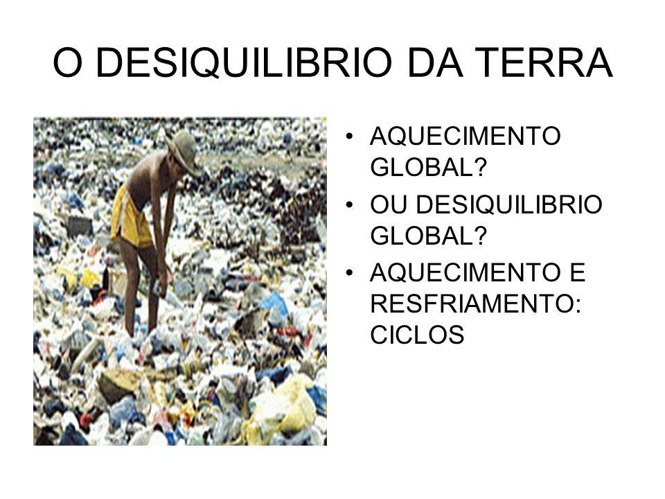 O DESIQUILIBRIO DA TERRA