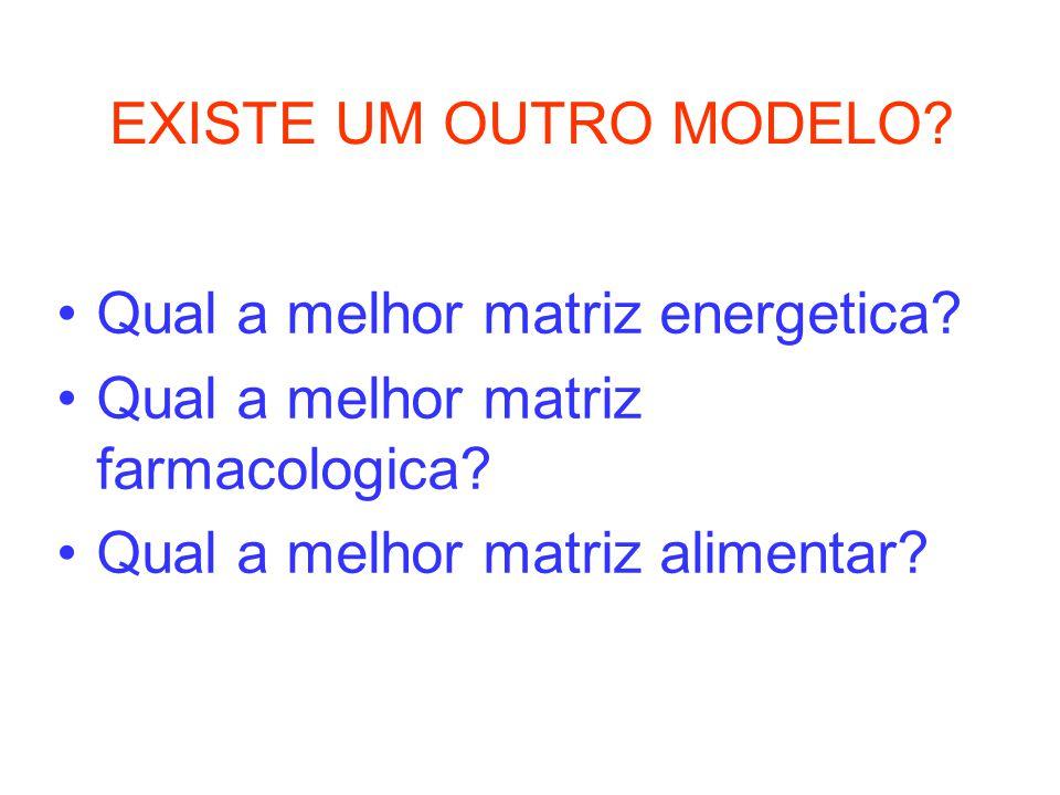 EXISTE UM OUTRO MODELO. Qual a melhor matriz energetica.