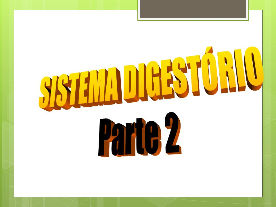 SISTEMA DIGESTÓRIO Parte 2