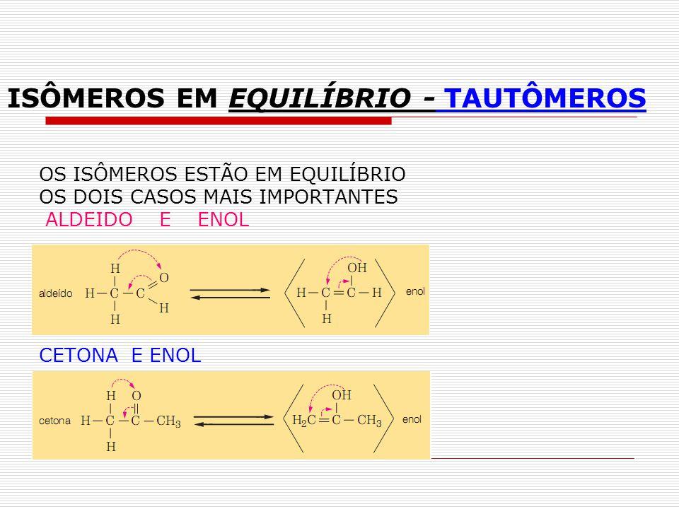 ISÔMEROS EM EQUILÍBRIO - TAUTÔMEROS