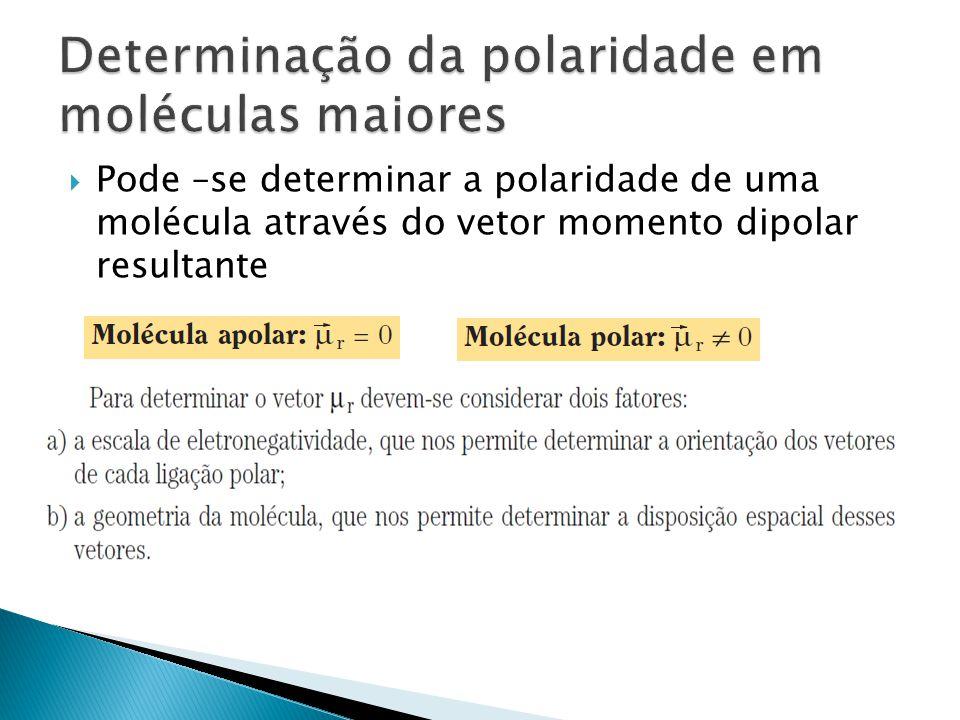 Determinação da polaridade em moléculas maiores