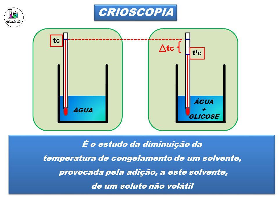 CRIOSCOPIA tC É o estudo da diminuição da