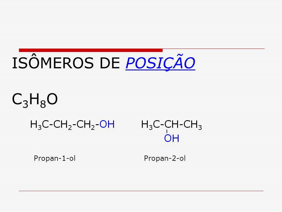 ISÔMEROS DE POSIÇÃO C3H8O