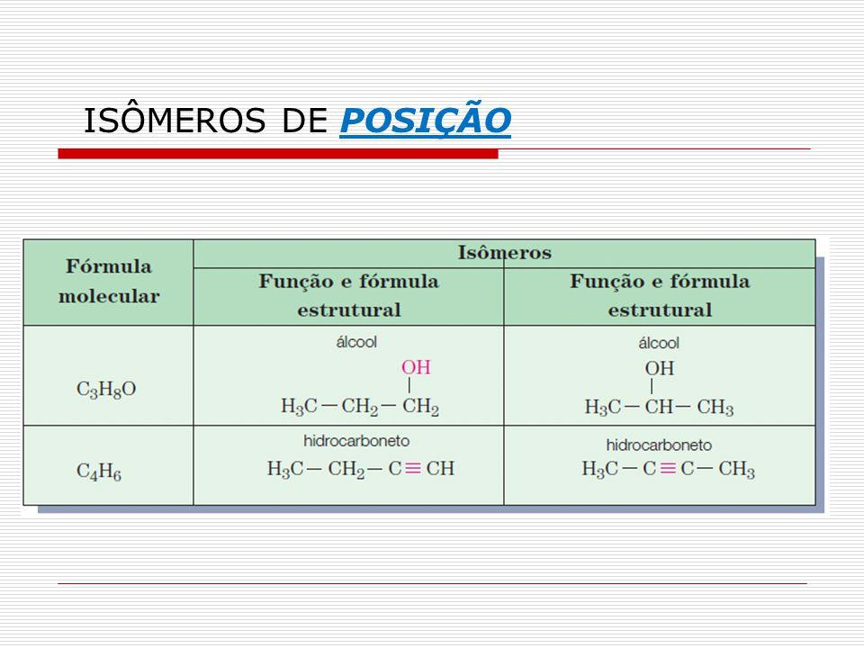 ISÔMEROS DE POSIÇÃO