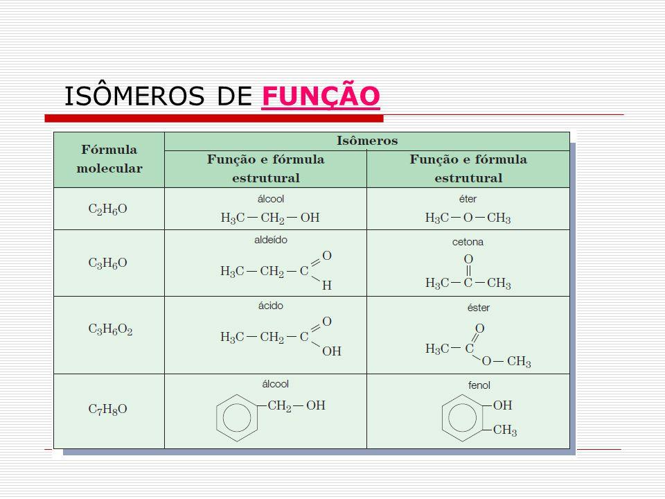 ISÔMEROS DE FUNÇÃO
