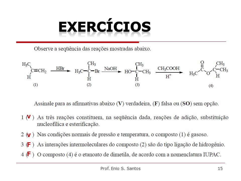exercícios v v F F Prof. Enio S. Santos