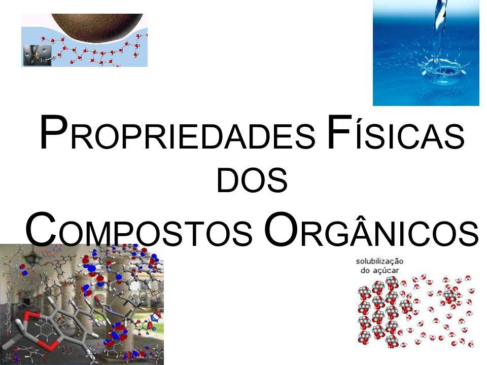 PROPRIEDADES FÍSICAS DOS COMPOSTOS ORGÂNICOS
