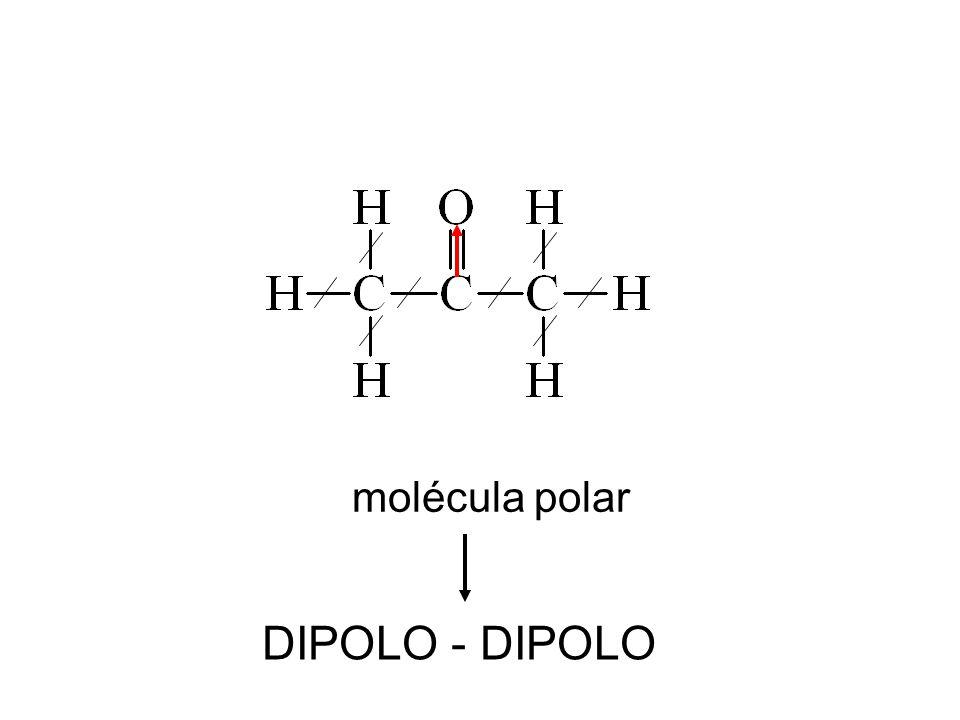molécula polar DIPOLO - DIPOLO