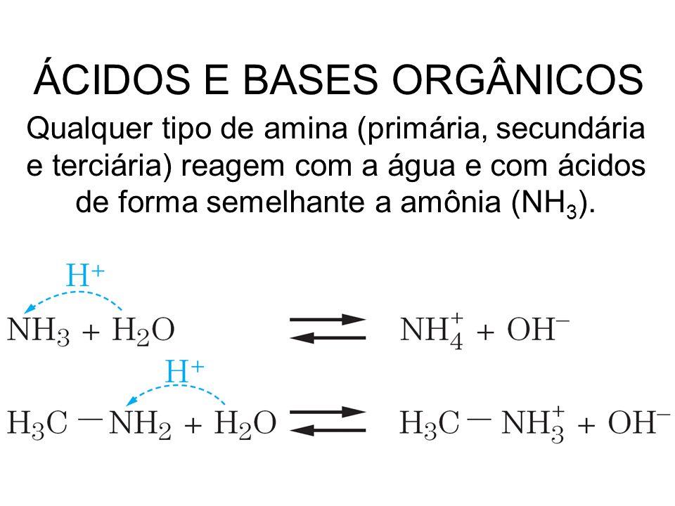 ÁCIDOS E BASES ORGÂNICOS