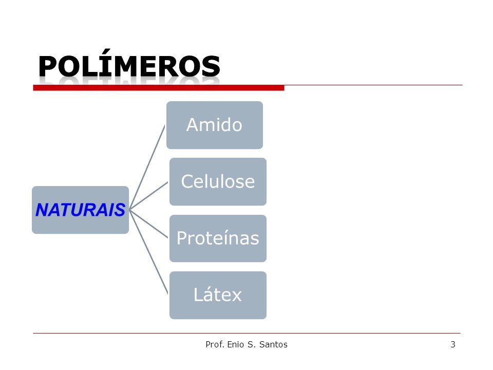 POLÍMEROS NATURAIS Amido Celulose Proteínas Látex Prof. Enio S. Santos