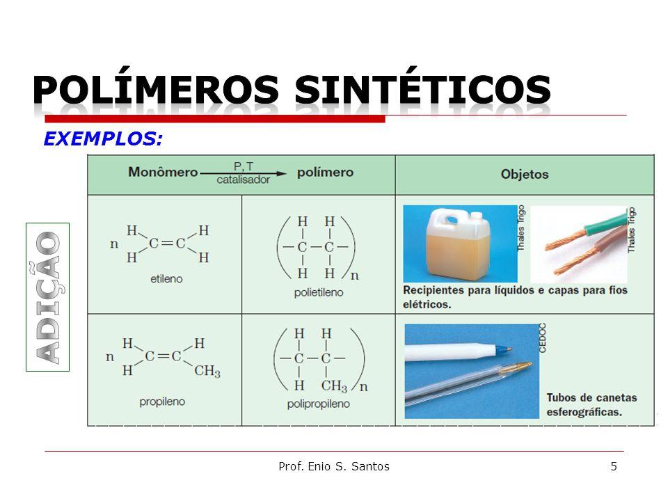 POLÍMEROS SINTÉTICOS EXEMPLOS: ADIÇÃO Prof. Enio S. Santos