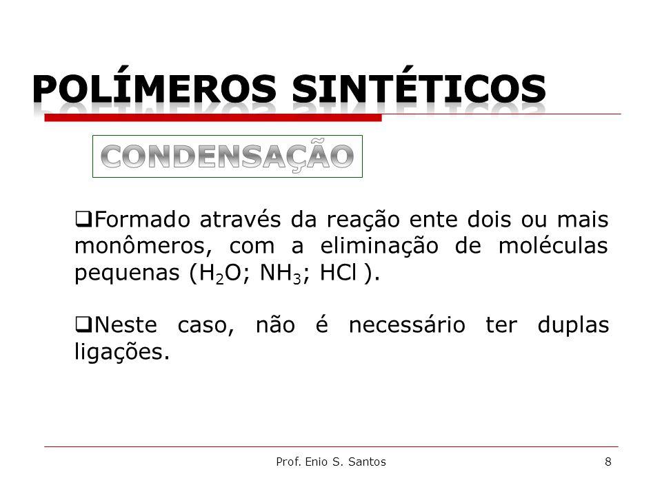 POLÍMEROS SINTÉTICOS CONDENSAÇÃO