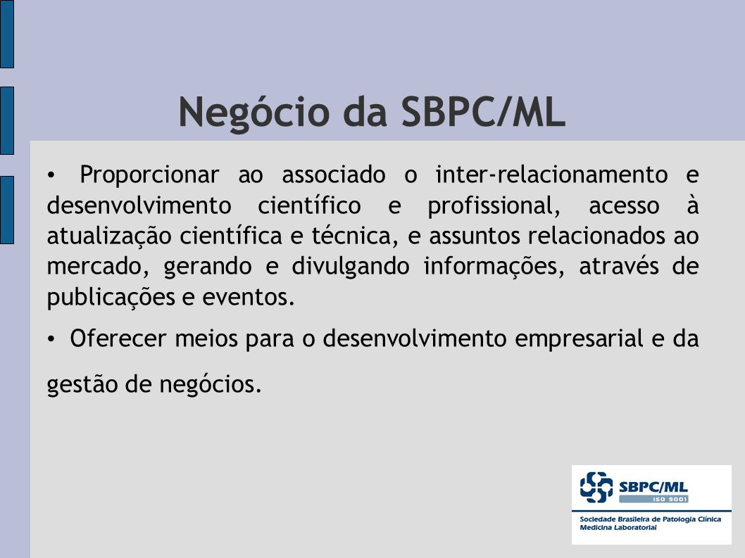 Negócio da SBPC/ML