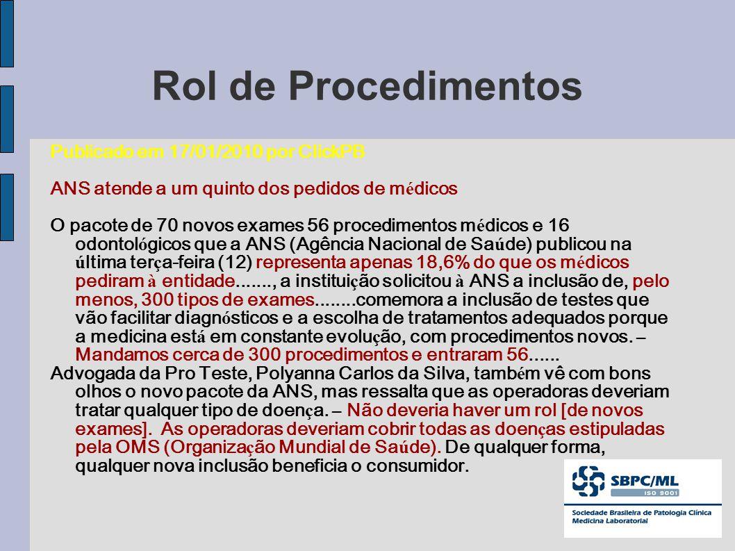 Rol de Procedimentos Publicado em 17/01/2010 por ClickPB