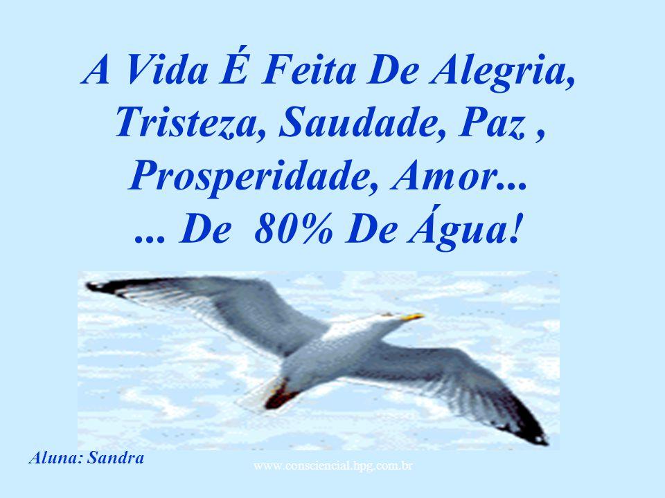 A Vida É Feita De Alegria, Tristeza, Saudade, Paz , Prosperidade, Amor
