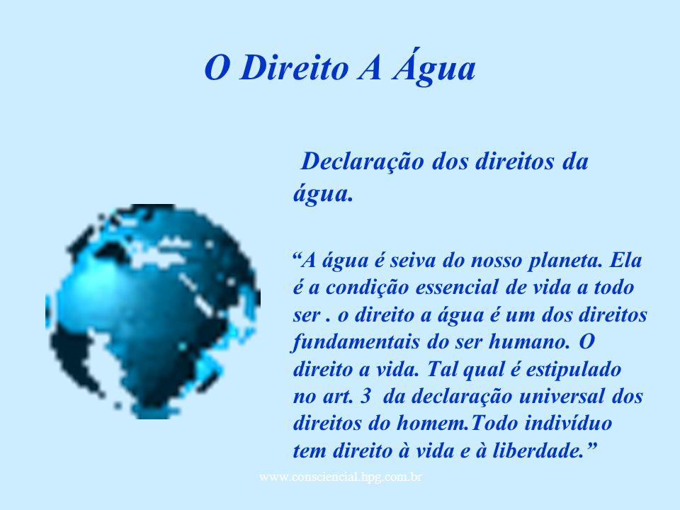 O Direito A Água Declaração dos direitos da água.