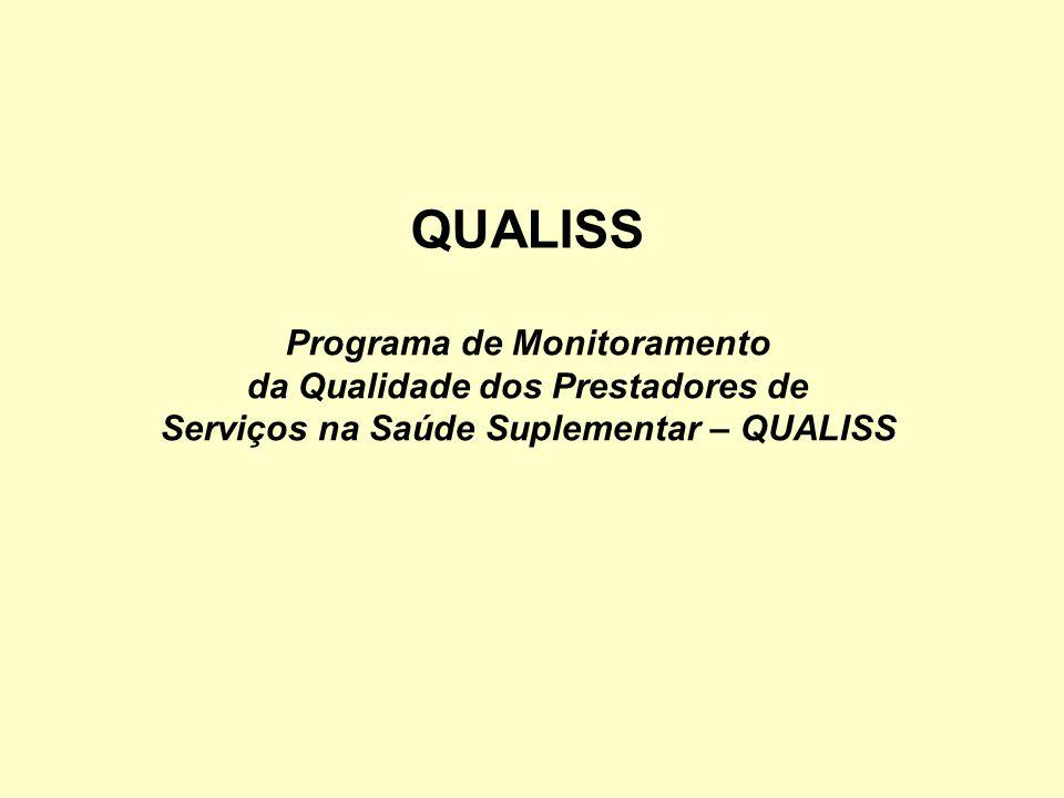 QUALISS Programa de Monitoramento da Qualidade dos Prestadores de