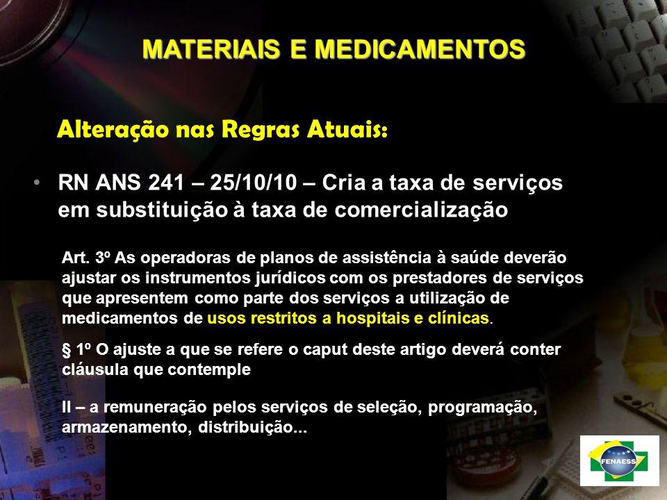 MATERIAIS E MEDICAMENTOS