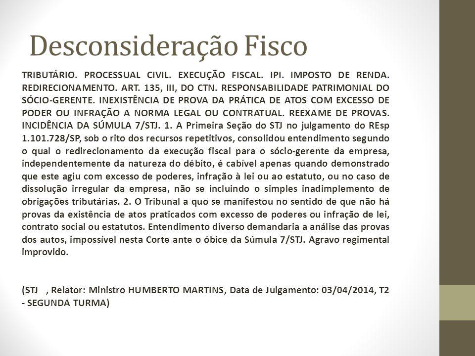 Desconsideração Fisco