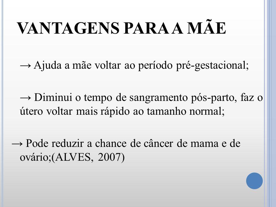 VANTAGENS PARA A MÃE