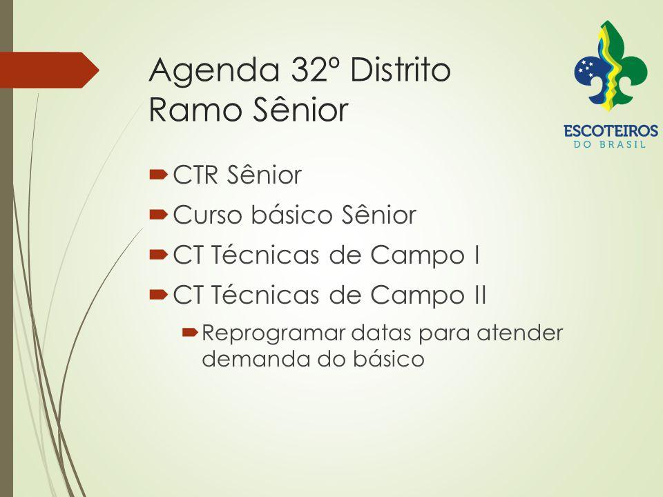 Agenda 32º Distrito Ramo Sênior