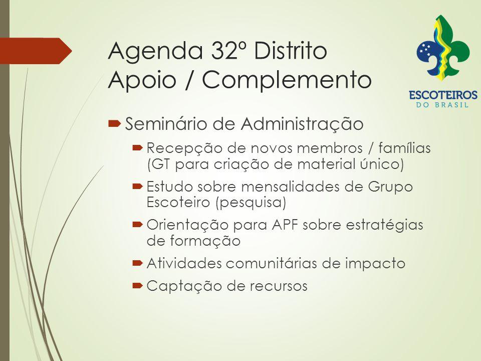 Agenda 32º Distrito Apoio / Complemento