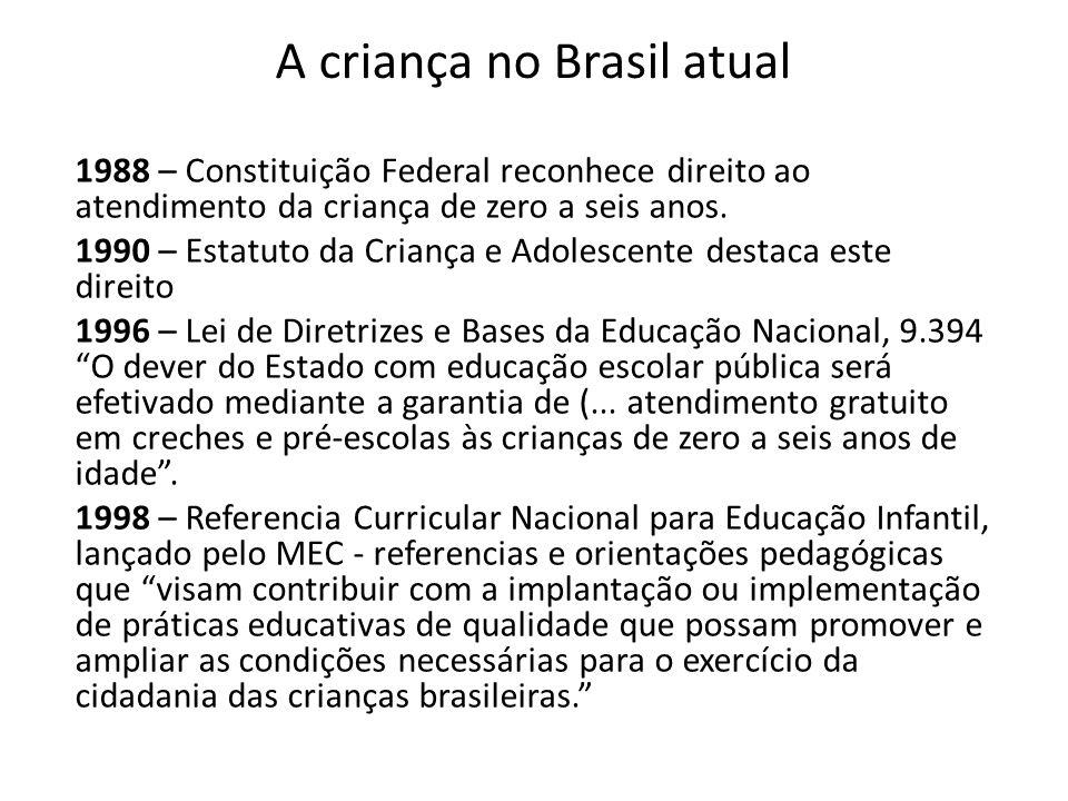 A criança no Brasil atual
