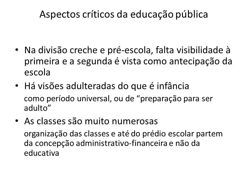 Aspectos críticos da educação pública