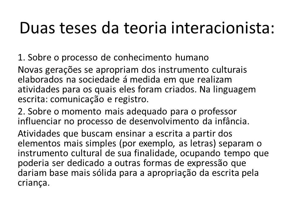 Duas teses da teoria interacionista: