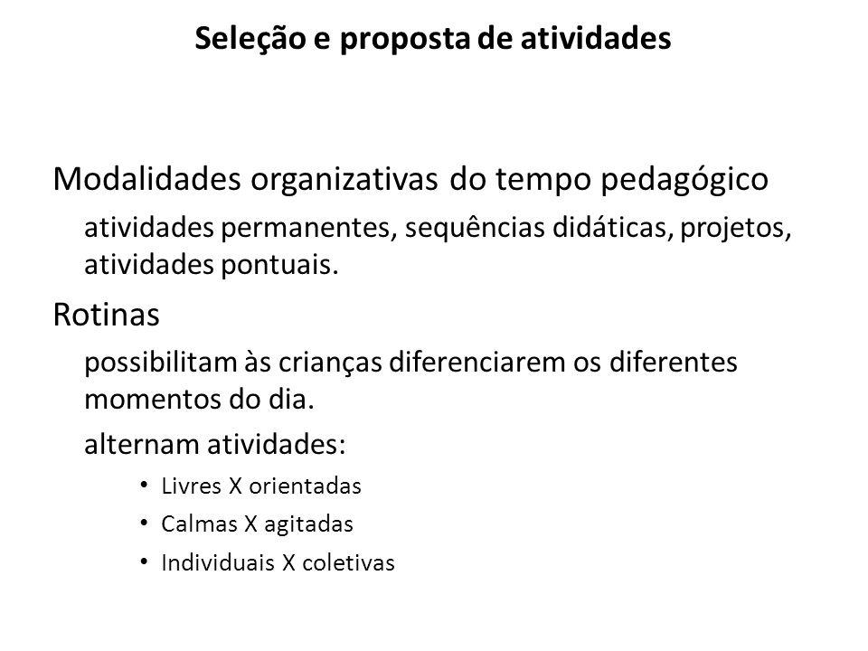 Seleção e proposta de atividades