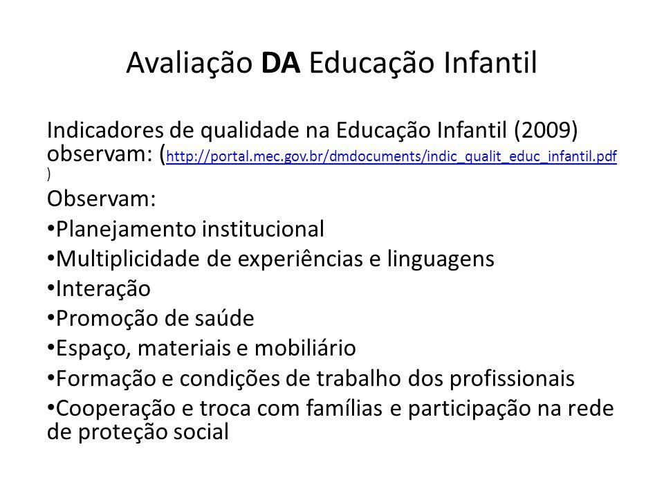 Avaliação DA Educação Infantil
