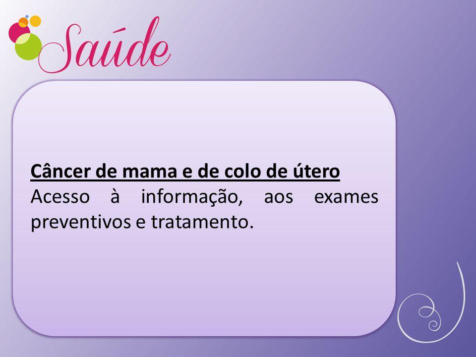 Câncer de mama e de colo de útero