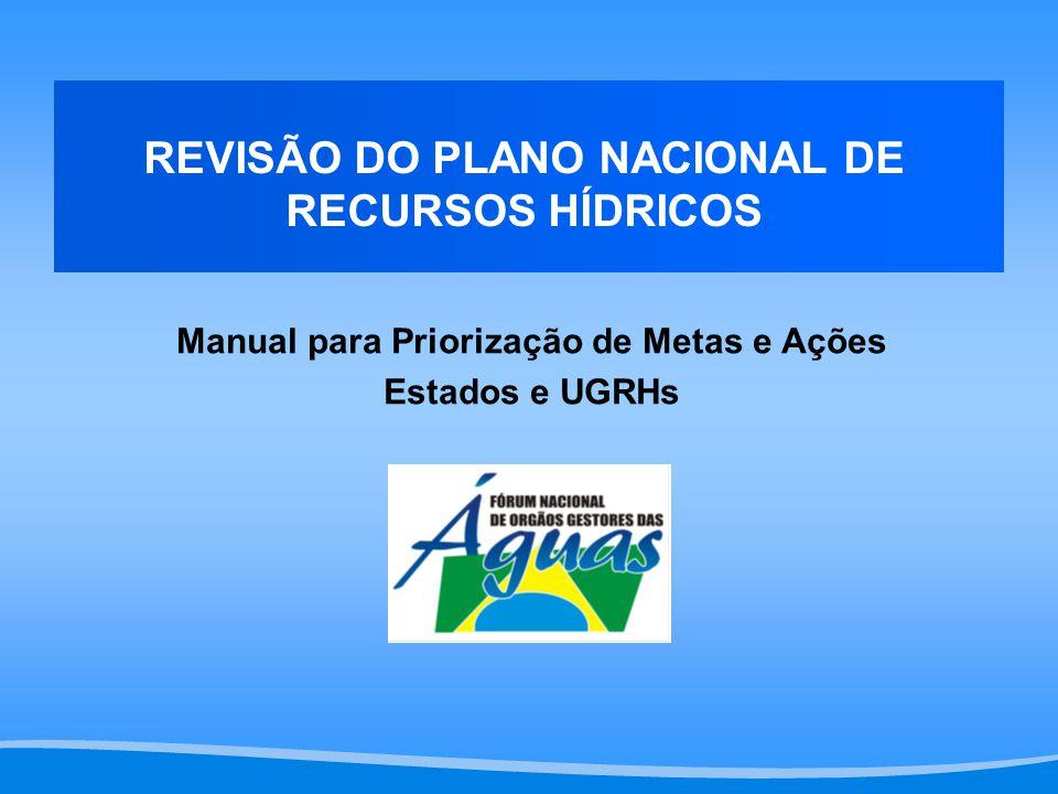 Manual para Priorização de Metas e Ações Estados e UGRHs