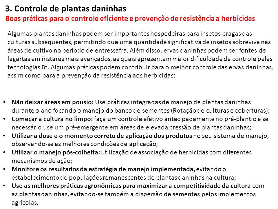 3. Controle de plantas daninhas Boas práticas para o controle eficiente e prevenção de resistência a herbicidas