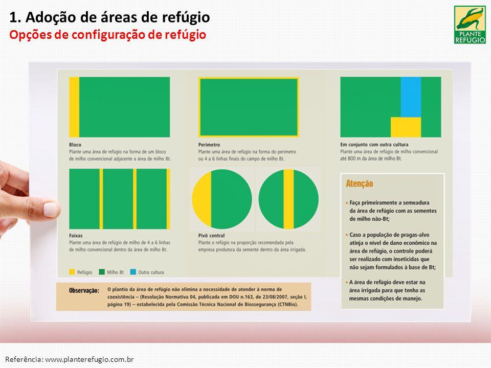 1. Adoção de áreas de refúgio Opções de configuração de refúgio