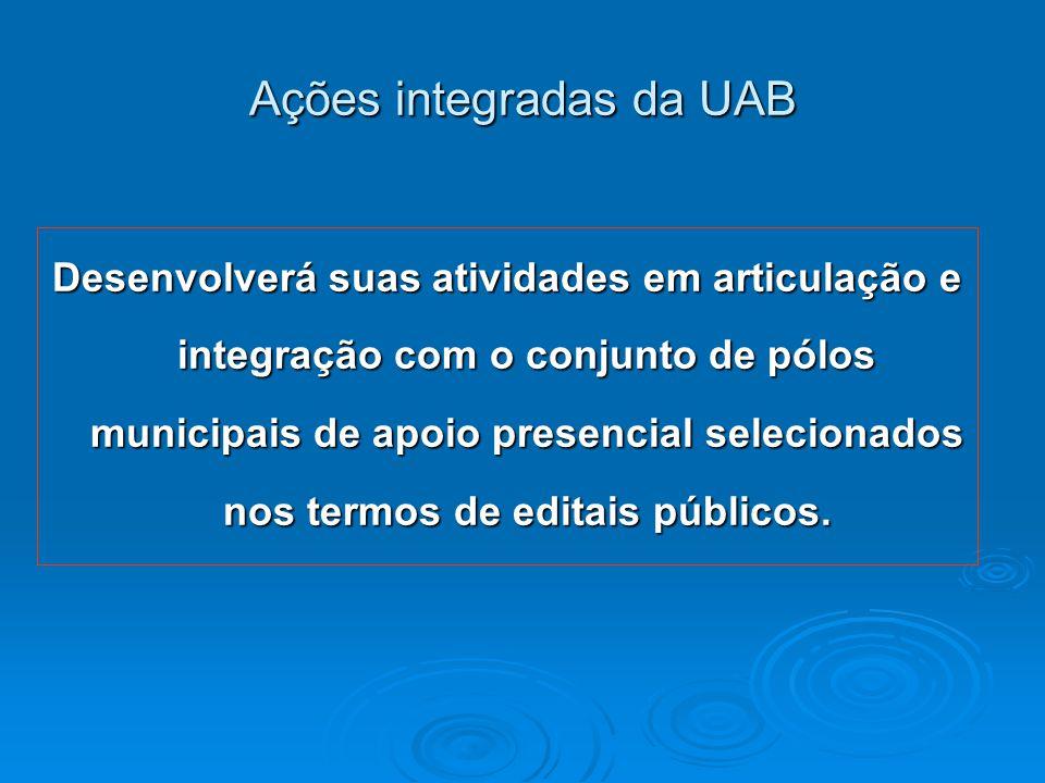 Ações integradas da UAB