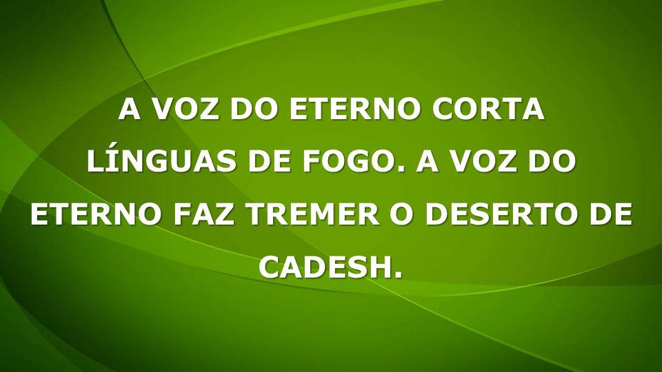 ETERNO FAZ TREMER O DESERTO DE CADESH.