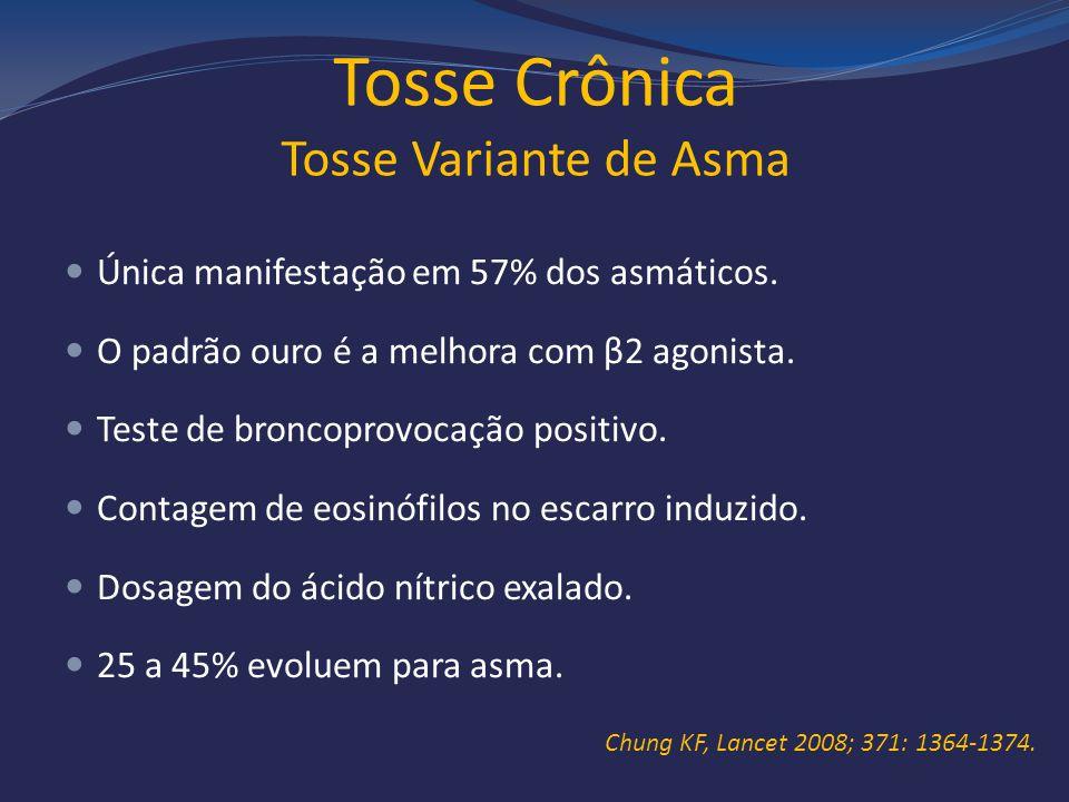Tosse Crônica Tosse Variante de Asma