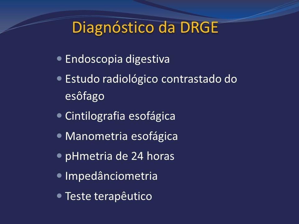 Diagnóstico da DRGE Endoscopia digestiva